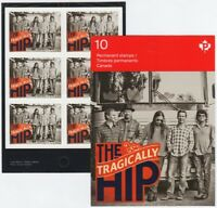 TRAGICALLY HIP = Canadian Recording Artists One BKL Page of 6 stamps Canada 2013