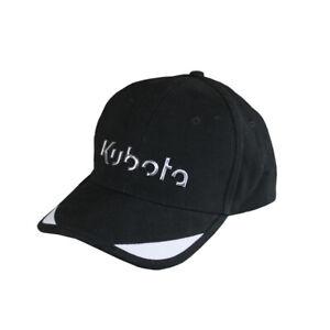 Kubota Branded Black Liquid Metal Cap with Adjustable Strap