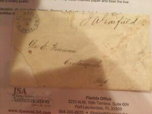 James Garfield signed JSA