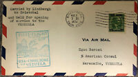 1930 US To Venezuela First Flight Cover - Flown by Lindbergh