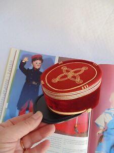 Rare tout petit képi miniature parfait pour poupée ancienne JUMEAU BRU STEINER