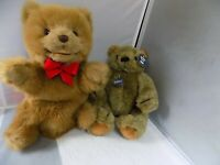 (4) Gund Bears = Puppet and Winnie The Pooh and Gunder Bear +