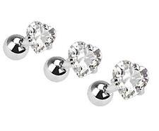 BodyJ4You 3PC Tragus Earrings Cartilage Studs 16G Heart CZ Piercing Jewelry Set