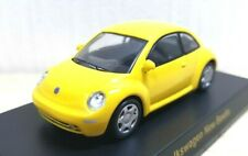 Kyosho 1/64 VW VOLKSWAGEN NEW BEETLE YELLOW diecast car model