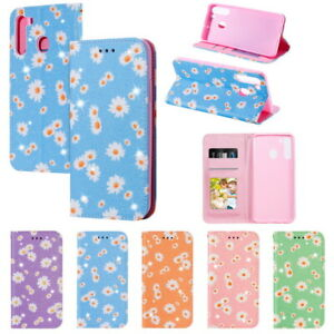 For Samsung Galaxy S10 Lite A21S A11 PU Leather Stand Card Holder Protect Cover
