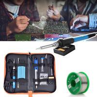 Portable Digital Soldering Iron Kit w/ 5 Tips Electronics PCB Board Repair Tools