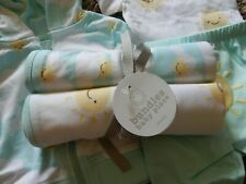 2x NWT The Children's Place Sun Sunshine Clouds Baby Receiving Swaddle Blankets