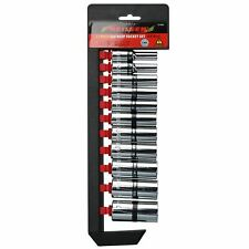 """Imperial SAE AF Double Deep Sockets 5/16"""" - 7/8"""" Single Hex 3/8"""" Drive 11pc"""