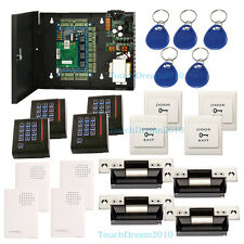 TCP/IP Network Door Entry Access Control System for 4 Door with ANSI strike lock