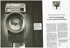 Publicité Advertising 1980 (2 pages) La camera canon AF 514 XLS