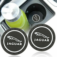 COASTER 2PC 2.75'' SILICONE CAR CUP HOLDER INSERT FOR JAGUAR - US SELLER