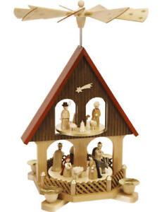 Pyramidenhaus Christi Geburt, 36cm - Glässer aus Seiffen - Original Erzgebirge