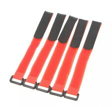 5X Red 30cm LiPo Battery Pack Straps Tie Down Reusable Straps Bands Cables