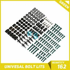 Green 162Pcs Fairings Bolt Kit Fastener Nuts Screws for GT 250R 650R hyosung
