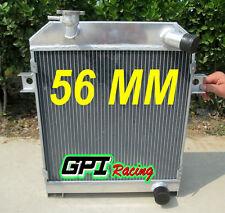 56MM ALUMINUM RADIATOR JAGUAR MK1/MK2 MK I/MKII S-TYPE SALOON MT 1955-1967 56