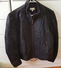 CAPTURE Black Leather Jacket Coat Plus Size 14 16