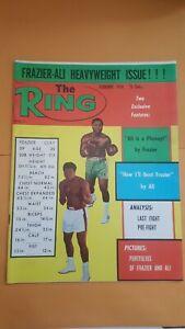 The Ring  Boxing Magazine. Feb. 1974. Joe Frazier-Muhammad Ali.