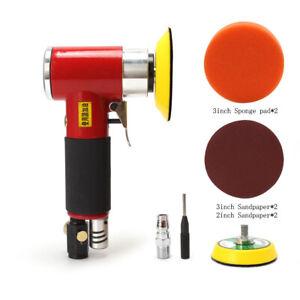 2 Inch 3 Inch Mini Pneumatic Polisher Pad Set Orbital Air Sander Polishing Tool