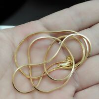 Women Men's Jewelry Solid 18K Yellow Gold Filled Snake Chain Necklace 16-30 inch