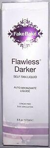 Fake Bake Flawless Darker 6 oz Self Liquid Tanning Deeper Bronze * Damaged Box *
