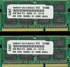 8GB DDR3 1066 MHZ PC3 8500 2X4GB SODIMM MEMORY FOR MACBOOK PRO IMAC MAC MINI