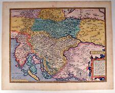 Illyricum - Ortelius 1584 Original Antique Italien Slovenien Kroatien Balkan