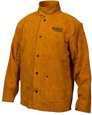 Leather Welding Jacket XX-Large Heavy Duty Tall XXL Protective Brown Work Coat