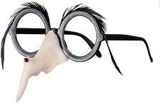 Brille mit Hexennase und schwarzen Augenbrauen NEU - Zubehör Accessoire Karneval