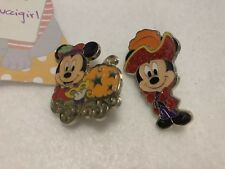Tokyo Disney Sea Set of 2 Mickey Mouse Pins 30th Anniversary Halloween Pirate
