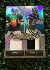 2010 Bowman Sterling Tony Romo & Dez Bryant Dual Patch Refractor #D /50 Cowboys