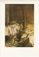 ARTHUR RACKHAM VINTAGE ART PRINT. An Original FairyTale Fantasy Illustration