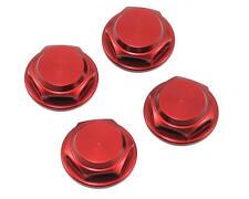 King Headz 17mm Coarse Thread Flanged Closed End Wheel Nut (Red) (4)