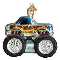 Old World Christmas TOY MONSTER TRUCK (44095)X GLASS Ornament w/OWC Box