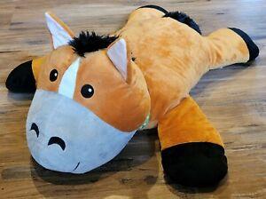 """MELISSA & DOUG Cuddle Horse Pony Stuffed Animal 26"""" Long PLUSH TOY NEW w/ Tag"""
