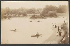 Postcard Bristol Avon Somerset view of The Lake at Eastville Park posted 1912 RP