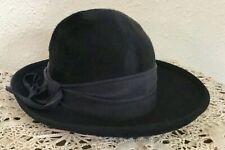 60's Vintage Navy Blue Faux Fur Hat