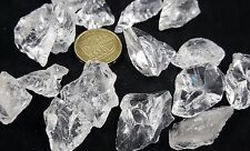 Rock Crystal Clear Quartz Mineral Natural Specimen Gemstone Healing Head Chakra