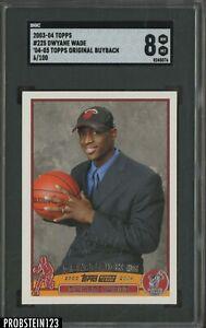 2003-04 Topps 2004-05 Original Buyback Dwyane Wade RC Rookie /100 SGC 8