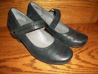 ABEO B.I.O.system Rebeka Black Leather Mary Janes Womens Size 10M EUC, FREE SHIP