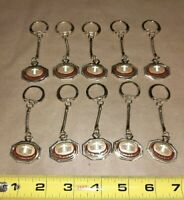 Lot of 10) Vintage 1960s Saint Elizabeth Hospital Key Chains St E. Keychain