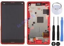 ECRAN LCD + VITRE TACTILE SUR CHASSIS SONY XPERIA Z3 COMPACT MINI D5833 ORANGE
