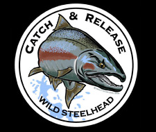 """Catch & Release Wild Steelhead"" Decal Fishing Sticker"