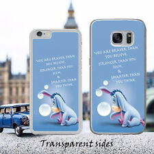 DISNEY Winnie The Pooh Eeyore Braver Quote Phone Case Cover