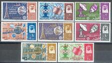 Qatar 1965 ** Mi.64/71 A Fernmeldeunion ITU Telecommunication