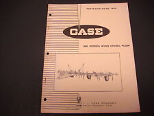 1965 Case Parts Catalog No. 854 WC Series Wing Chisel Plow Racine Wisconsin