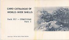 SALLY KAICHER CARD PACKS Pack #17 CYMATIIDAE part I