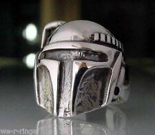 Sterling Silver .925 Boba Fett – Bounty Hunter Star Wars Ring RG03/S