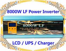 8000W LF Split Phase PSW 24V DC/110V,220V AC 60Hz Power Inverter LCD/UPS/Charger