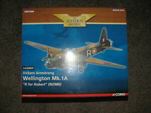"""Corgi 1:72 Vickers Armstrong Wellington Mk.1A """"R for Robert"""" Limited Edition"""
