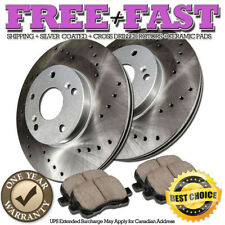 C0334 FRONT Drilled Brake Rotors Ceramic Pads FOR 1996 1997 1998 BMW 540i E39